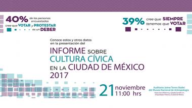 Informe sobre Cultura Cívica en la Ciudad de México 2017